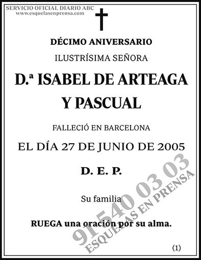 Isabel de Arteaga y Pascual